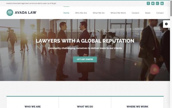 Voorbeelden website Lawyers