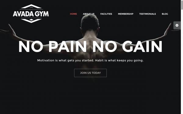 Voorbeeld website Gym