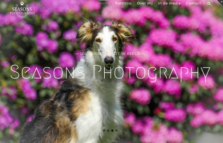 Voorbeelden Website seasonsphotography