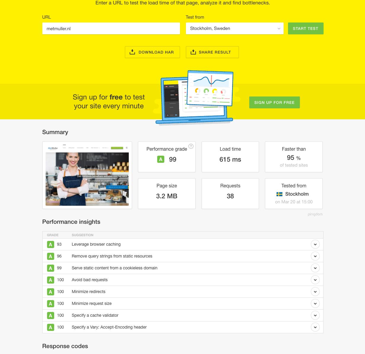 ik wil een nieuwe website