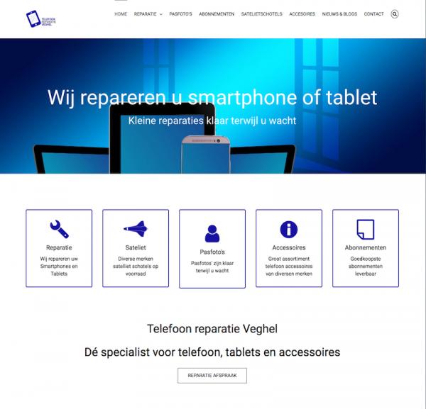 website voorbeeld telefoonreparatieveghel.nl