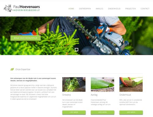 Voorbeeld website hoveniersbedijf