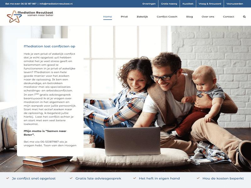 Mediationresultaat website voorbeeld