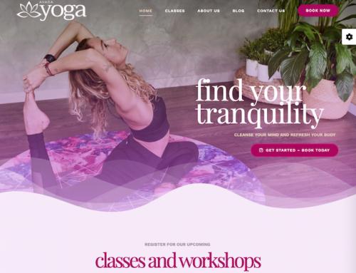 Website voorbeeld Yoga